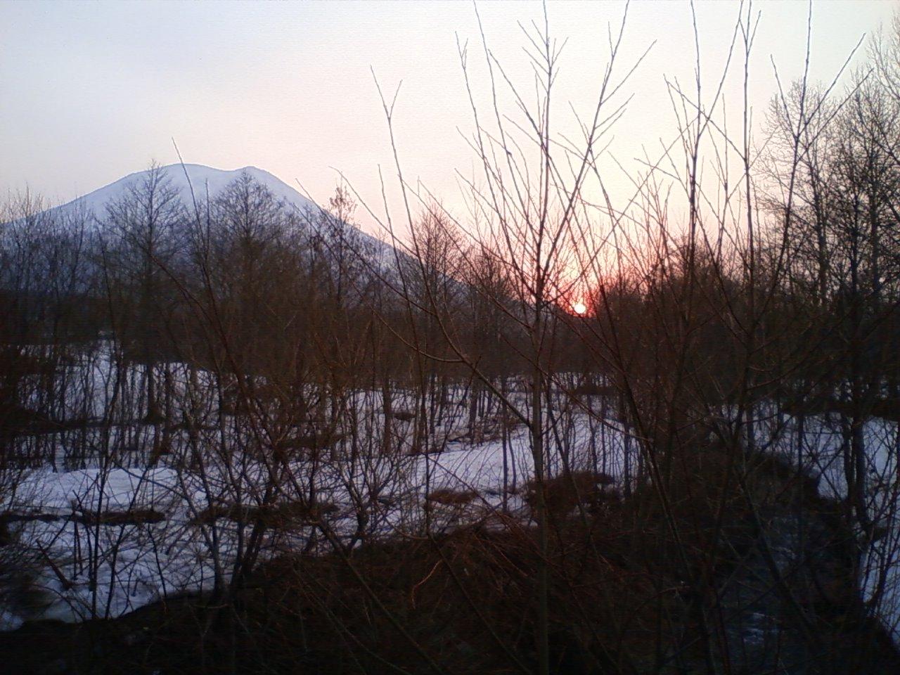 朝の羊蹄山一周