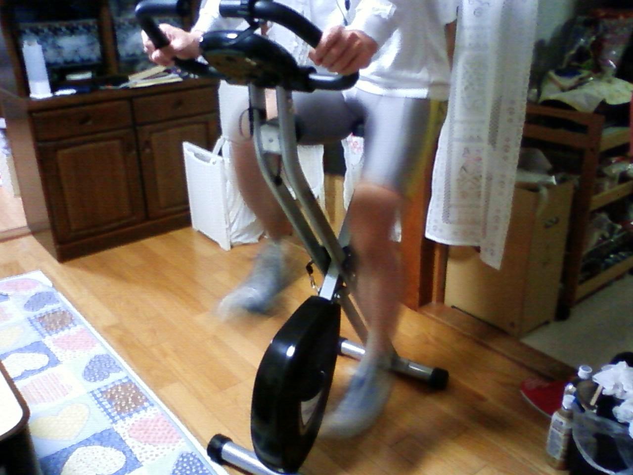 エアロバイク100キロ