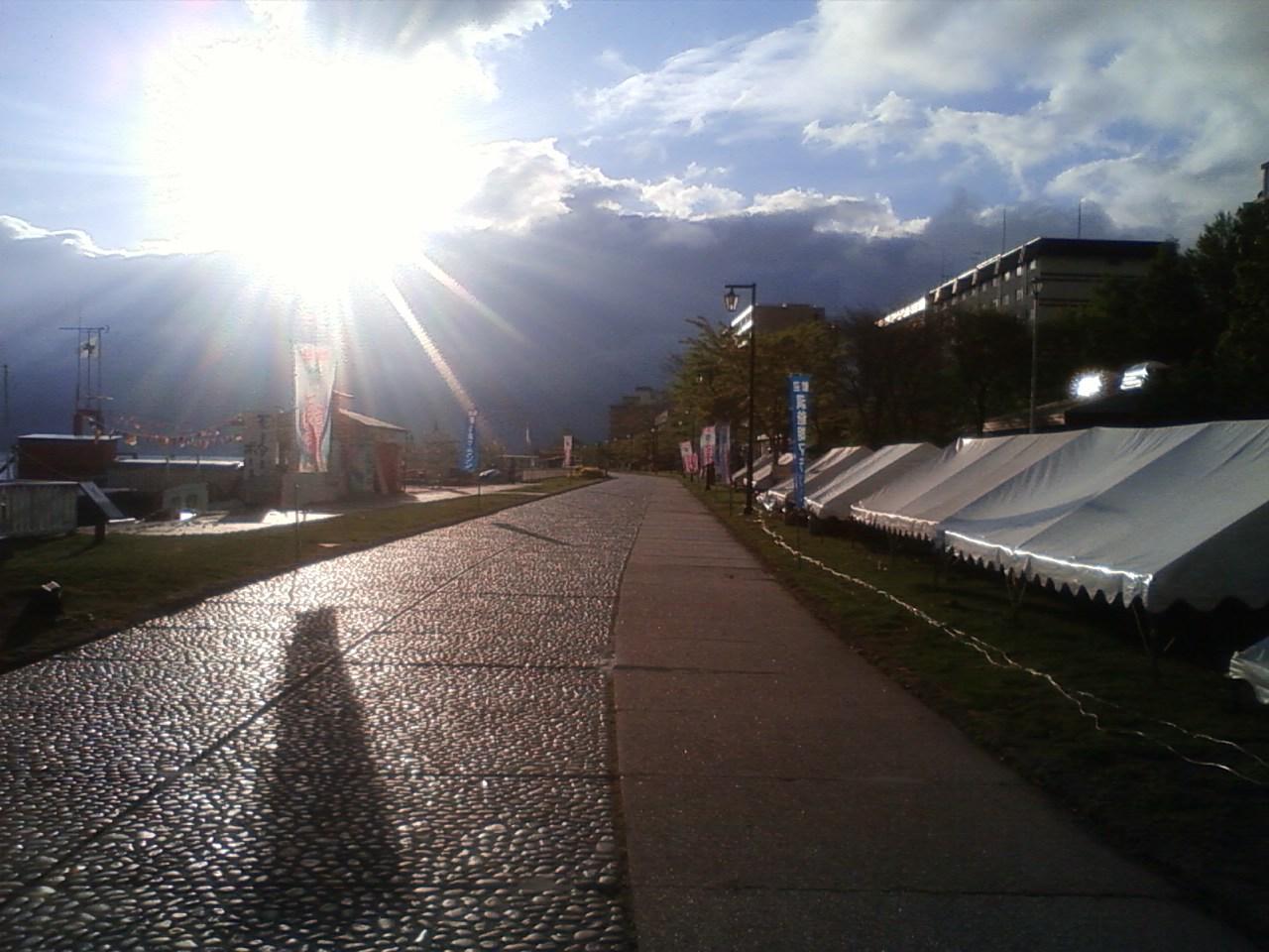 洞爺湖マラソンの朝