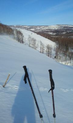 寒別北側の丘陵