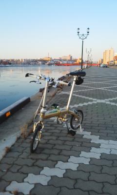 釧路朝自転車